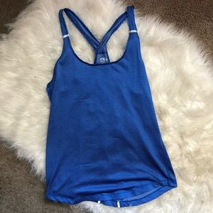 Athletic Works Tops - Athletic Blue Works Reflective Workout Racerback